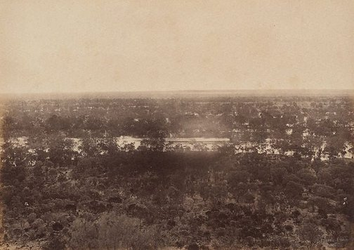 An image of View from Dunlop Range, near Louth, Darling River (looking west) by Charles Bayliss