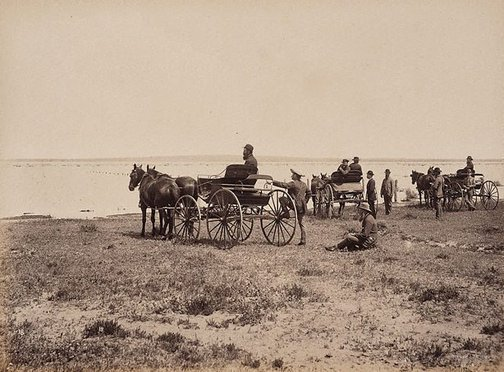 An image of Lake Woytchugga, near Wilcannia by Charles Bayliss