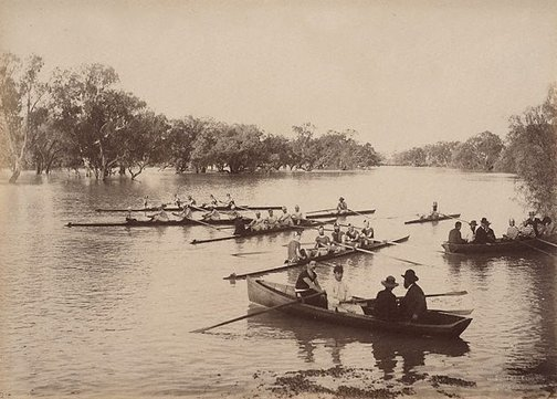 An image of Rowing Club, Wilcannia (first view) by Charles Bayliss