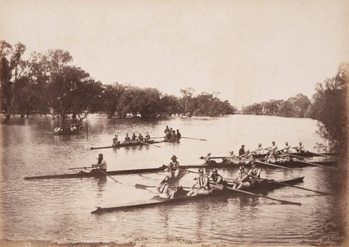 An image of Rowing Club, Wilcannia (second view) by Charles Bayliss