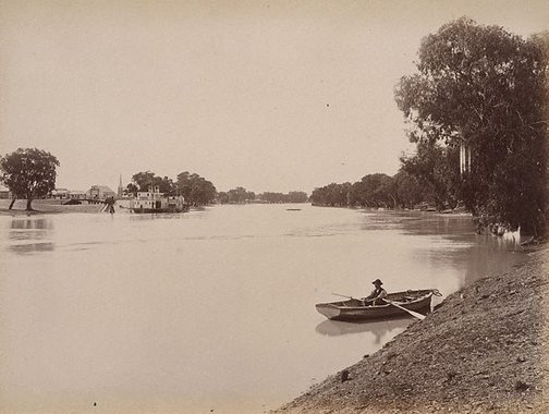 An image of Wentworth, near junction of Darling and Murray Rivers by Charles Bayliss