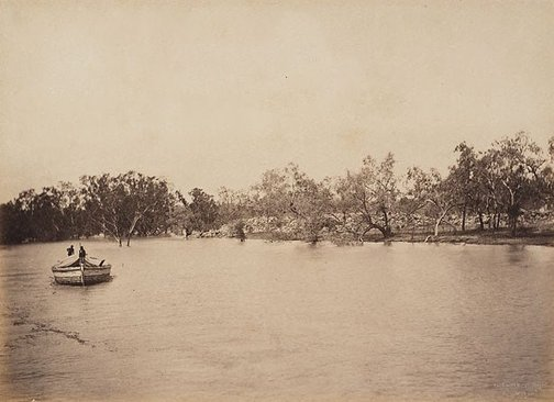 An image of Jandra Rocks, Darling River by Charles Bayliss