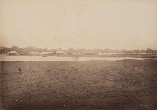 An image of Yanda Station, Darling River by Charles Bayliss