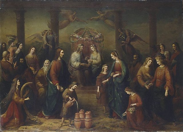 An image of The marriage at Cana of Galilee