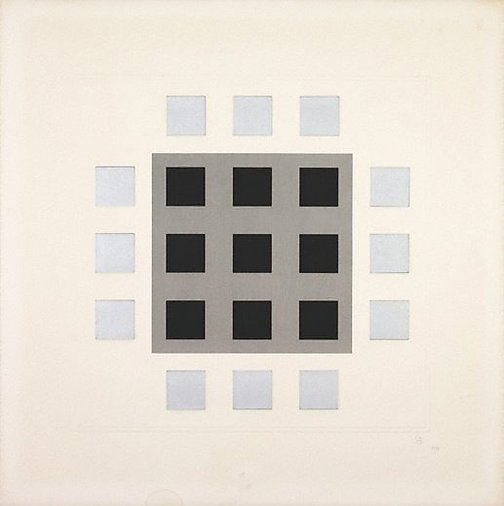 An image of Grey, black squares by Jesus-Rafael Soto