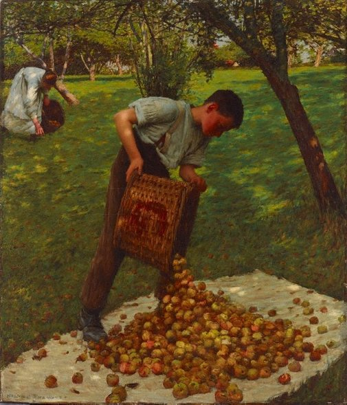 An image of Cider apples by Henry Herbert La Thangue