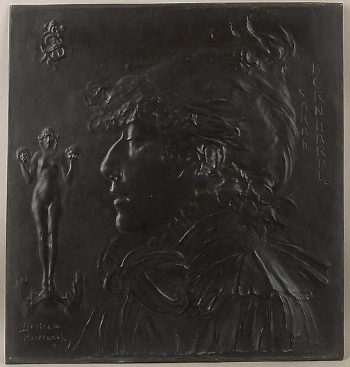 An image of Sarah Bernhardt by Bertram Mackennal