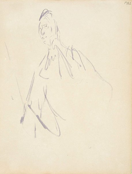 An image of Sketch of Dame Mary Gilmore by William Dobell