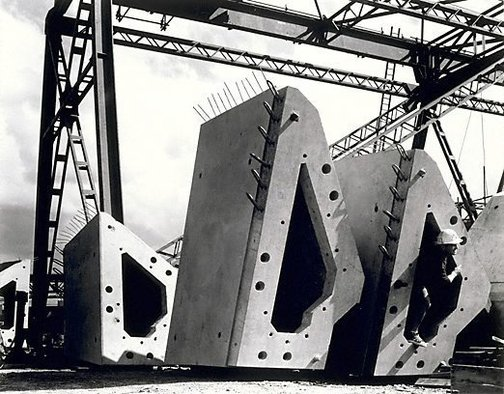 An image of Rib segments, Sydney Opera House by Max Dupain