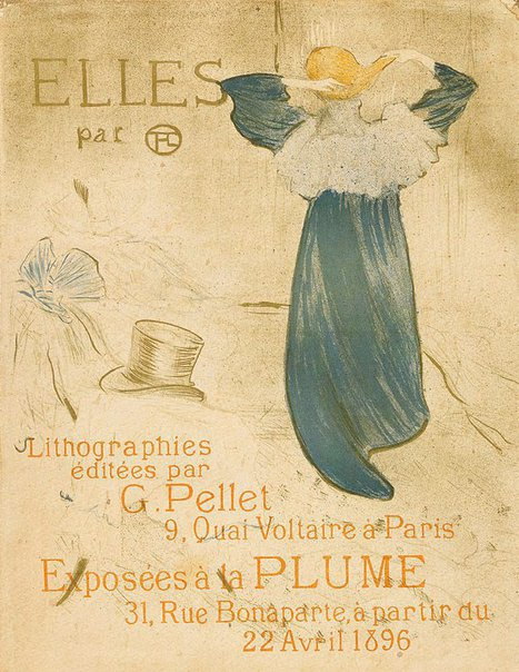 "An image of Frontispiece for ""Elles"" by Henri de Toulouse-Lautrec"