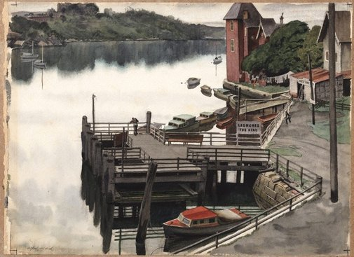 An image of Fig Tree Wharf by Alfred Herbert Cook