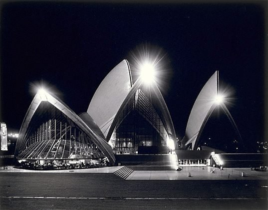 An image of Sydney Opera House at night