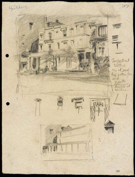An image of Burdekin House, Macquarie Street, Sydney and Details by Lloyd Rees
