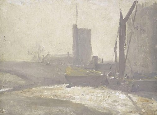 An image of Thames barges by Tom Roberts