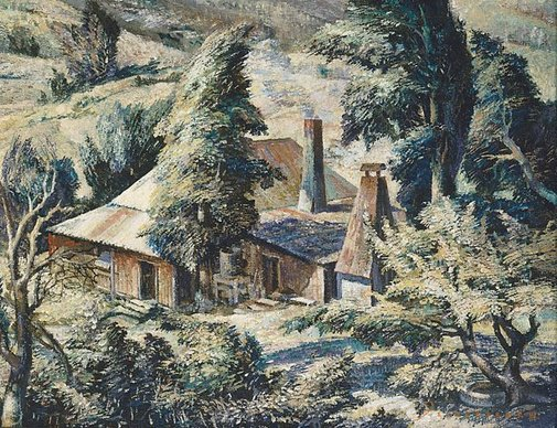 An image of A windy day, Carlon's farm by Freda Robertshaw