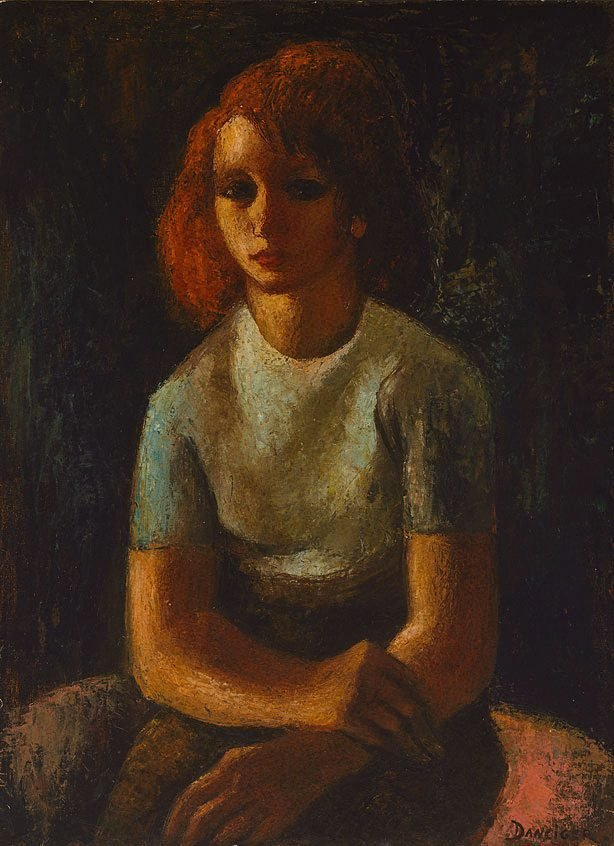 An image of The girl with red hair