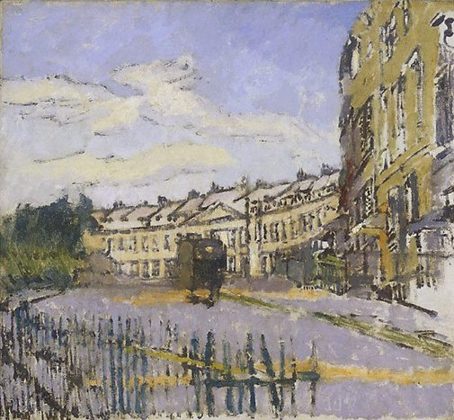 An image of Lansdown Crescent, Bath by Walter Richard Sickert