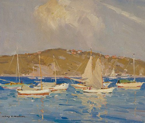 An image of Little boats, Middle Harbour by James R Jackson