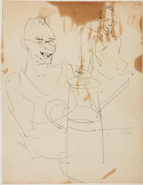 An image of (Man with coffee pot) (Early Sydney period) by William Dobell