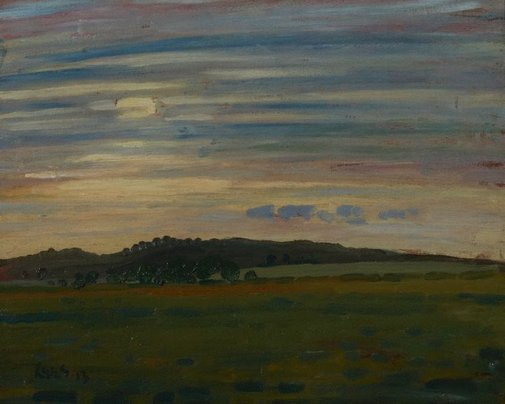 An image of Aldbourne landscape by Derwent Lees