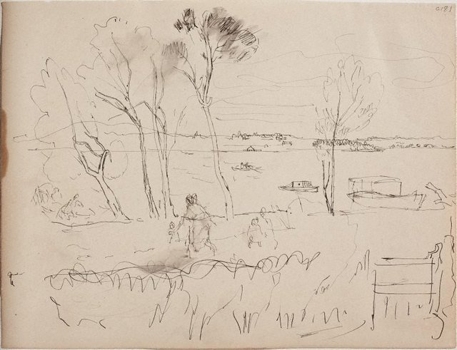 An image of (Landscape with figures) (Early Sydney period)