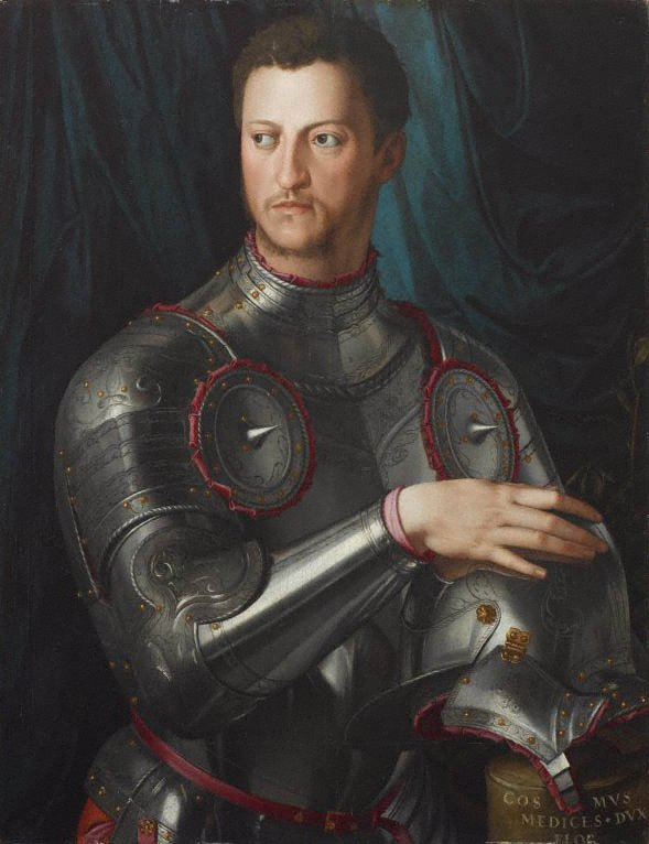 An image of Cosimo I de' Medici in armour