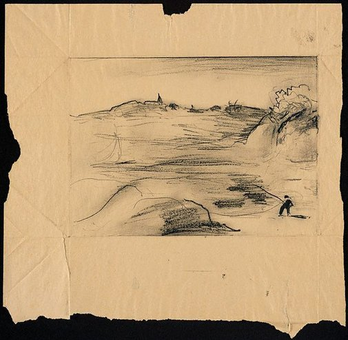 An image of Drawing for soft-ground etching 'Bay at Northwood' by Lloyd Rees