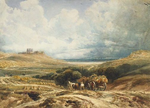 An image of Dover Castle from the Canterbury Road by Peter DeWint