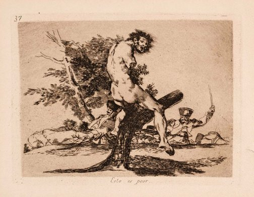 An image of This is still worse by Francisco de Goya Y Lucientes