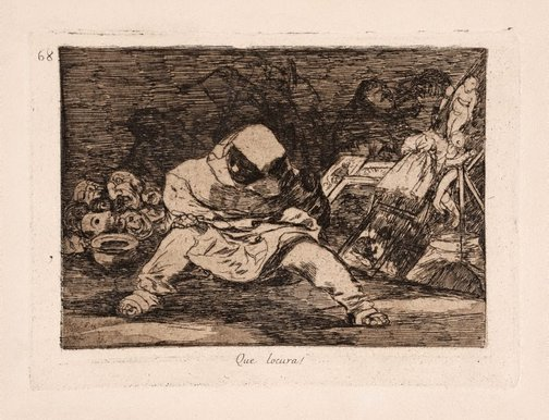 An image of What folly by Francisco de Goya Y Lucientes