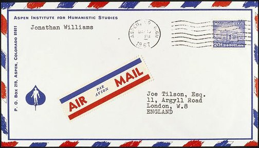 An image of L - Letter from Jonathan Williams by Joe Tilson