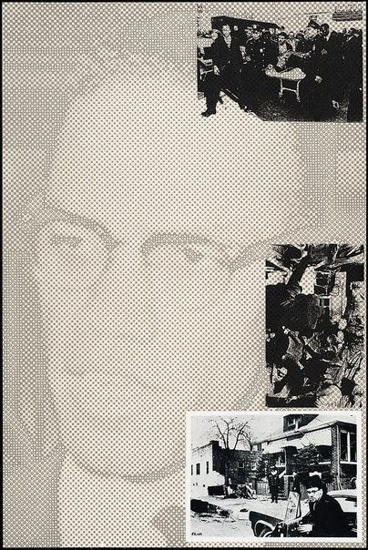 An image of X - Malcolm X by Joe Tilson