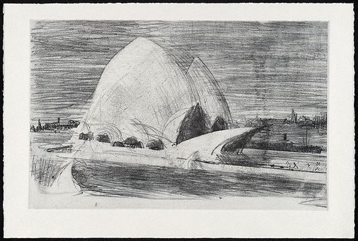 An image of Sydney Opera House by Lloyd Rees