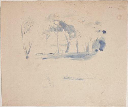 An image of (Landscape with figures) (Sketches from Wangi and Lake Macquarie) by William Dobell