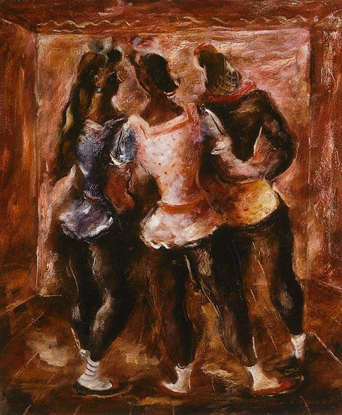 An image of Three dancers by Francis Lymburner