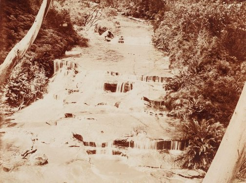 An image of Untitled (waterfall) by Norman C Deck