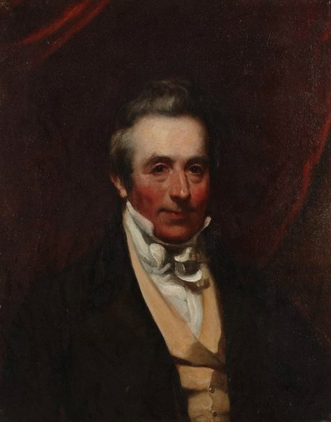 An image of Portrait of a man by attrib. Sir Martin Archer Shee