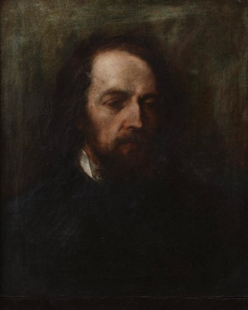 An image of Lord Tennyson by Ethel Case, after George Frederic Watts