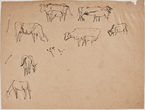 An image of (Horse and cow studies) (Sketches from Wangi and Lake Macquarie) by William Dobell