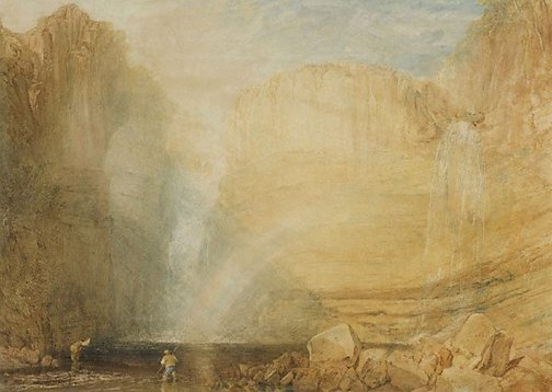 An image of High force, Fall of the Tees, Yorkshire by Joseph Mallord William Turner