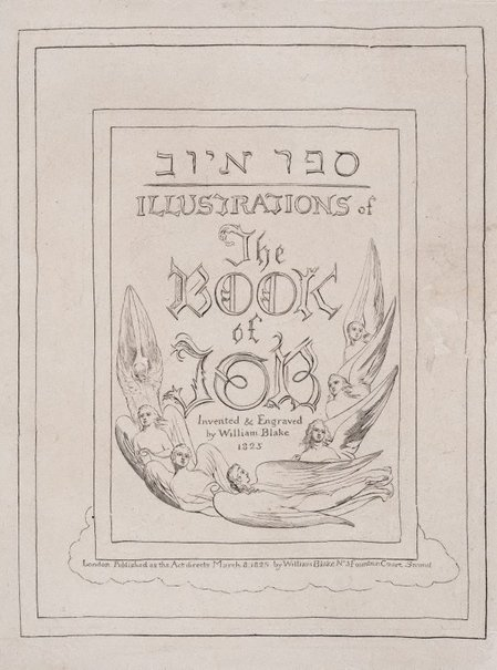 An image of Frontispiece by William Blake