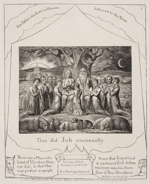 An image of Job and his family by William Blake