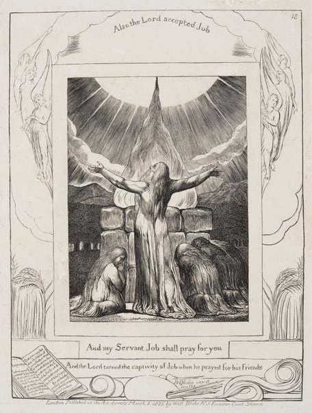 An image of Job's sacrifice by William Blake
