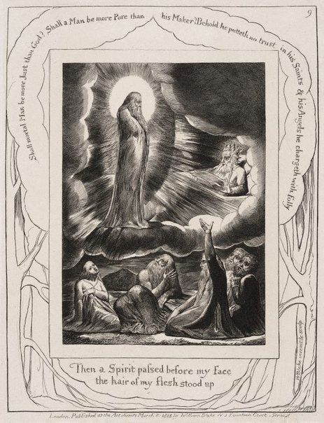 An image of The vision of Eliphaz by William Blake