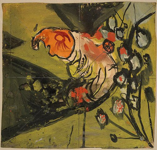 An image of Study for painting - tree form by Graham Sutherland