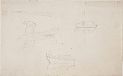 An image of (Boat studies) (Sketches from Wangi and Lake Macquarie) by William Dobell