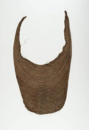An image of Bilum (looped string bag), worn by men by