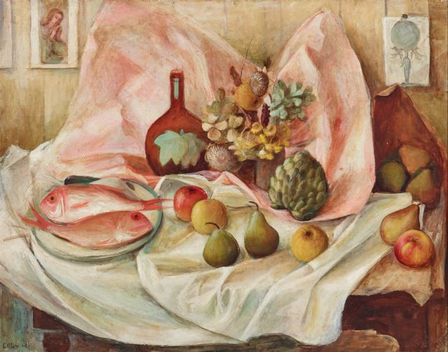 An image of Still life with pink fish