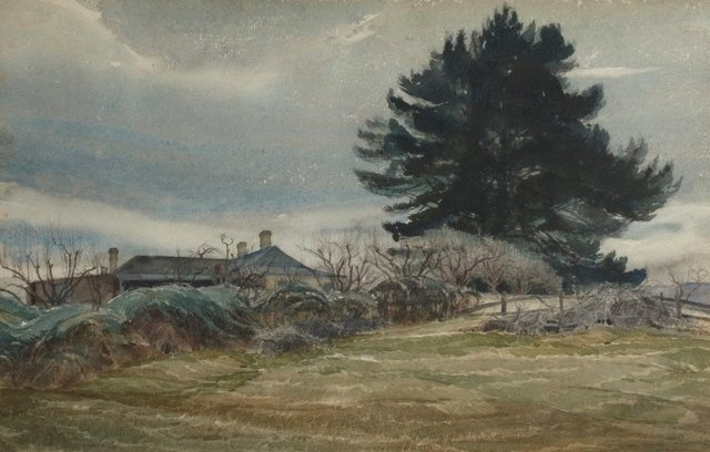 An image of Collitts Inn and the dark pines