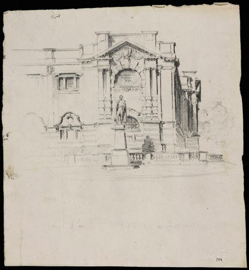 An image of Mitchell Library by Lloyd Rees